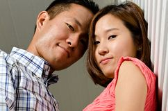 夫妇韩文 库存图片