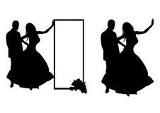 夫妇领巾水晶珠宝附加婚礼 皇族释放例证