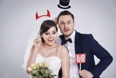 夫妇领巾水晶珠宝附加婚礼 库存图片