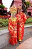夫妇马六甲马来语 免版税库存照片