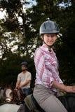夫妇骑马者 免版税图库摄影