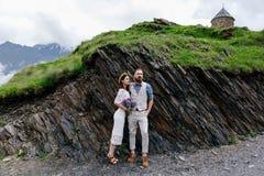 夫妇,两的婚礼在乔治亚 免版税库存照片