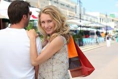 夫妇购物 图库摄影