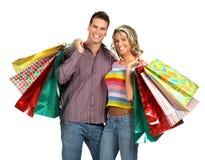 夫妇购物 免版税库存照片