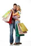 夫妇购物 库存照片
