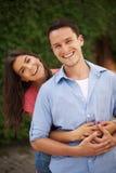 夫妇画象在爱的 免版税库存照片