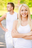 夫妇年轻人 免版税图库摄影