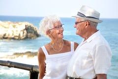 夫妇年长愉快 免版税库存图片