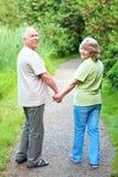 夫妇年长的人前辈 免版税库存图片