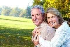 夫妇年长的人前辈 免版税图库摄影