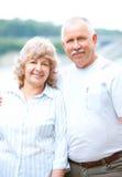 夫妇年长的人爱 库存照片
