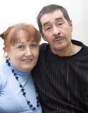 夫妇年长的人纵向 图库摄影