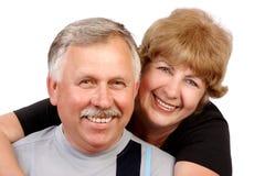 夫妇年长的人 免版税图库摄影
