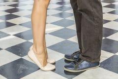 夫妇` s腿 免版税库存照片