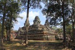 建夫寺庙,柬埔寨 免版税库存照片