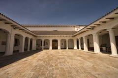 央行博物馆大厦在伊瓦拉,厄瓜多尔 免版税库存照片