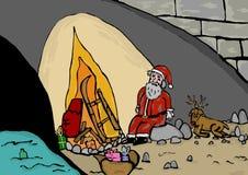 失业的圣诞老人 图库摄影