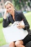 失业的女实业家 免版税库存图片