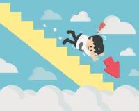 失去平衡 经理企业减退图 概念事务 向量例证