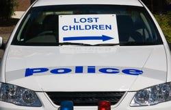 失去的儿童标志 库存图片