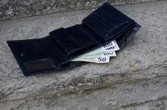 失去的钱包 免版税库存照片