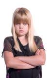 失望的女孩年轻人 库存图片