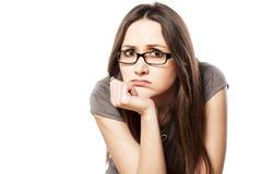 失望的妇女 免版税库存照片
