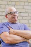 失望的情感在老人的面孔的 免版税库存图片