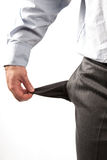 失望的生意人 免版税库存照片