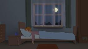 失眠 库存例证