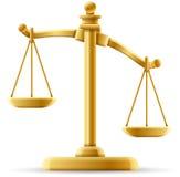 失衡的正义标度 免版税库存照片
