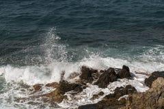 失败在岩石的通知 免版税图库摄影