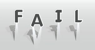 失败字的例证 免版税库存照片