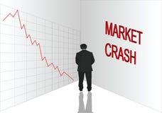 失败市场股票 皇族释放例证