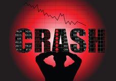 失败市场股票 库存例证