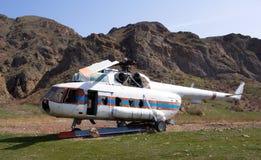 失败的直升机 库存图片