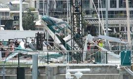 失败直升机海滨广场 免版税库存照片