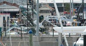 失败直升机海滨广场 免版税库存图片