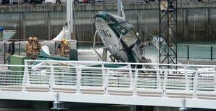 失败直升机海滨广场 免版税图库摄影