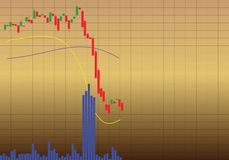 失败股票 库存例证