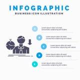 失败,失败,哀伤,消沉、时间Infographics模板网站的和介绍 r 向量例证