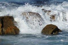 失败在岩石的通知 库存图片