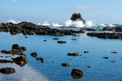失败在岩石的通知 免版税库存照片