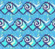 失败大浪通知 无缝马赛克的模式 在正方形的几何样式 免版税图库摄影