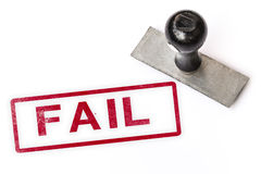失败文本标志标签邮票 免版税库存照片