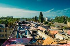 失去的世界屋顶 库存图片