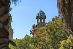 失去的城市旅馆的宫殿的片段在Sun City 免版税库存照片