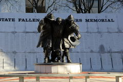 失去的消防队员2001 9月11日,纪念品,阿尔巴尼,纽约,秋天, 2013年 库存照片