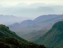 从失去的矿足迹的杜松峡谷,大弯曲国家公园,得克萨斯 库存照片