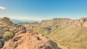 失去的矿足迹, Chisos山水池,大弯曲国家公园, TX 图库摄影